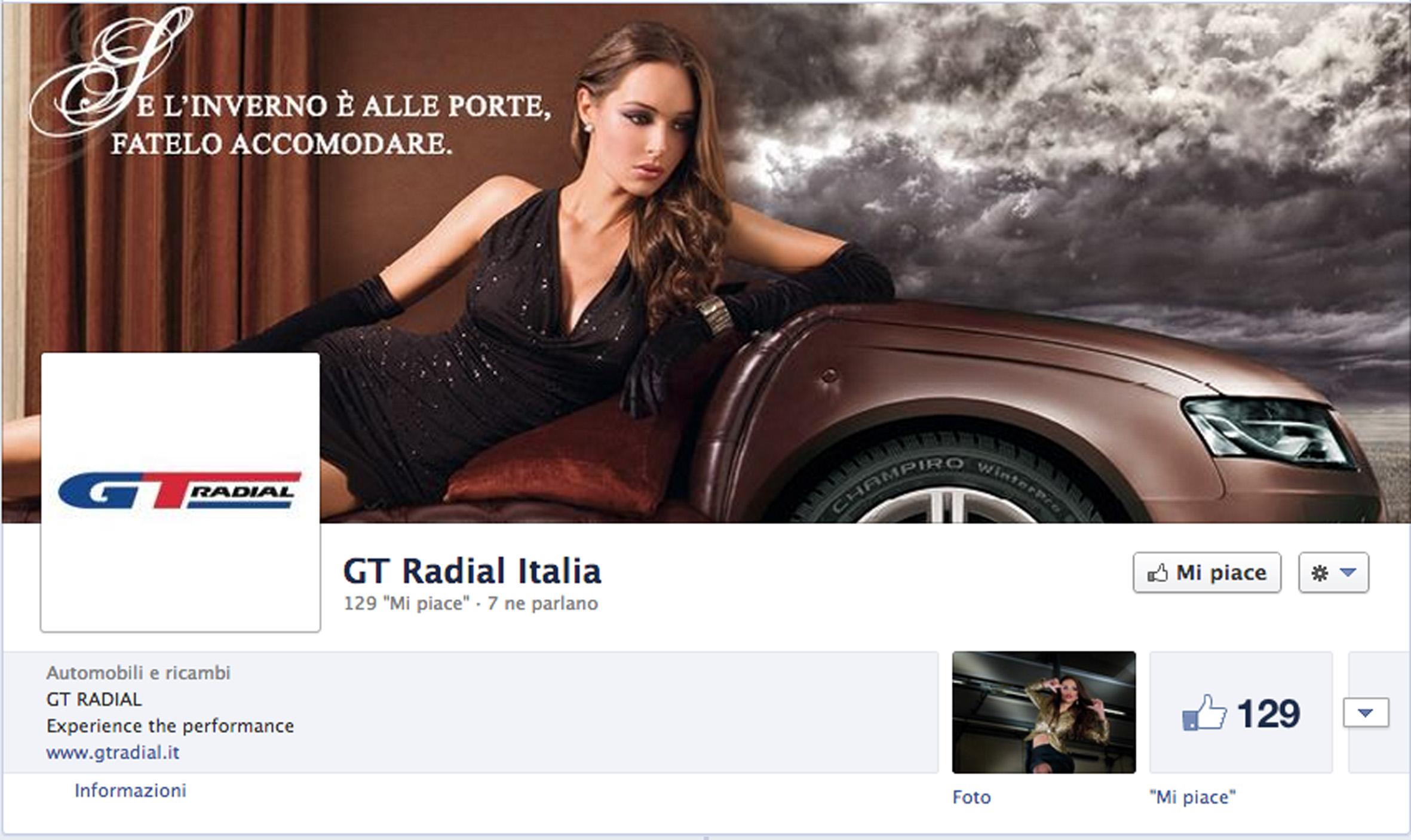 GT Radial Italia Facebook Fan-page