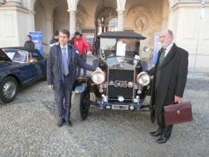 Roberto Loi  a destra e Marco Gilli e una Fiat 503
