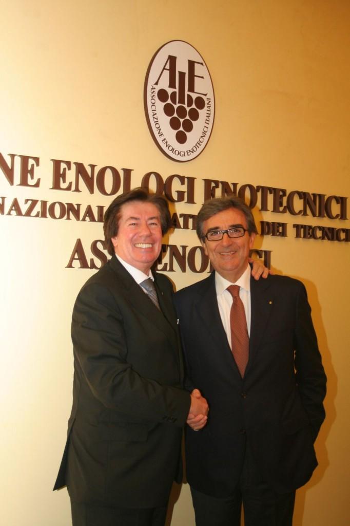 Riccardo Cotarella e Giuseppe Martelli - Presidente e Direttore generale Assoenologi