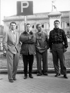 Giannino, Paolo, Umberto e Vittorio-Marzotto  i Conti correnti_nel 1952