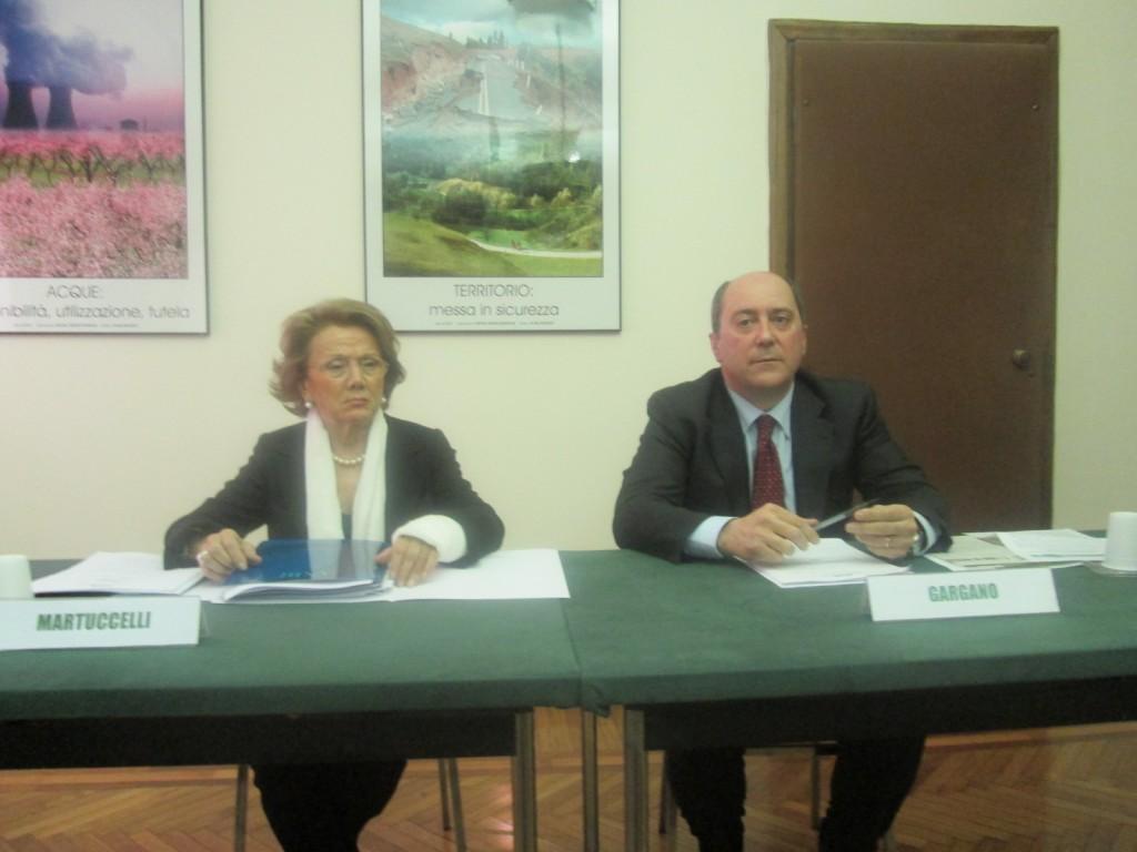Presidente ANBI M.Gargano e Direttore Gen.A.M.Martuccelli