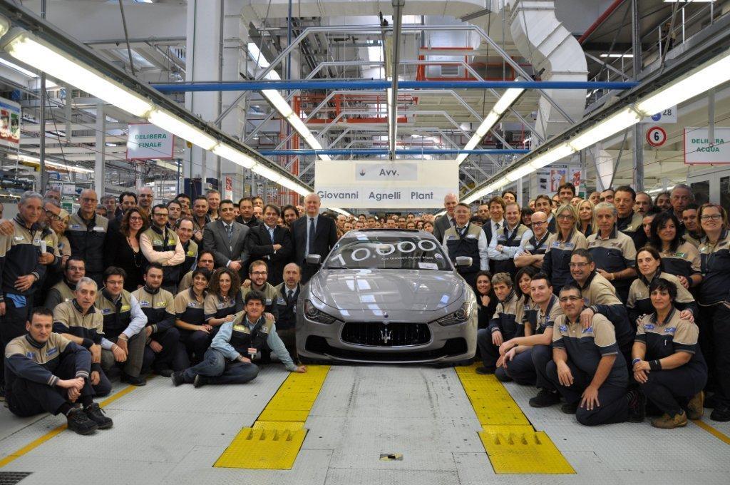 10000 Maserati prodotte a Grugliasco