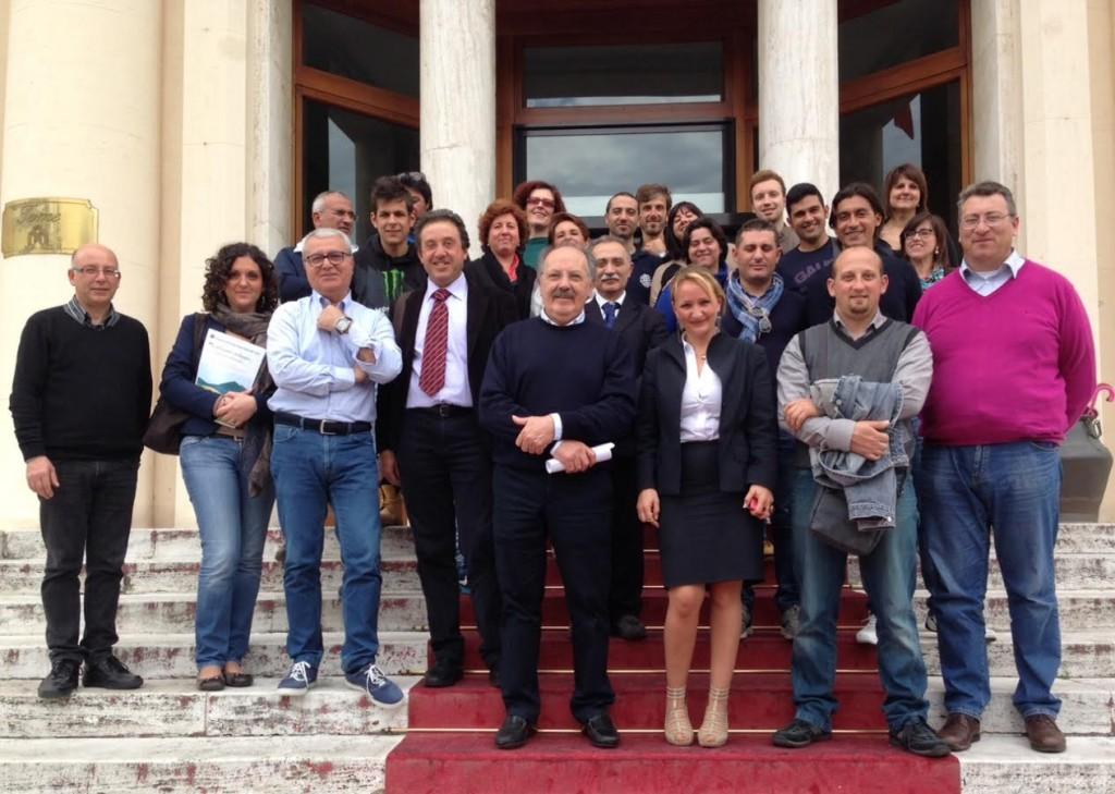 Delegazione composta da imprenditori e dirigenti della Regione Sicilia fra cui i dott. Lillì Napoli, Giuseppe Gambino, Stefano Pillitteri