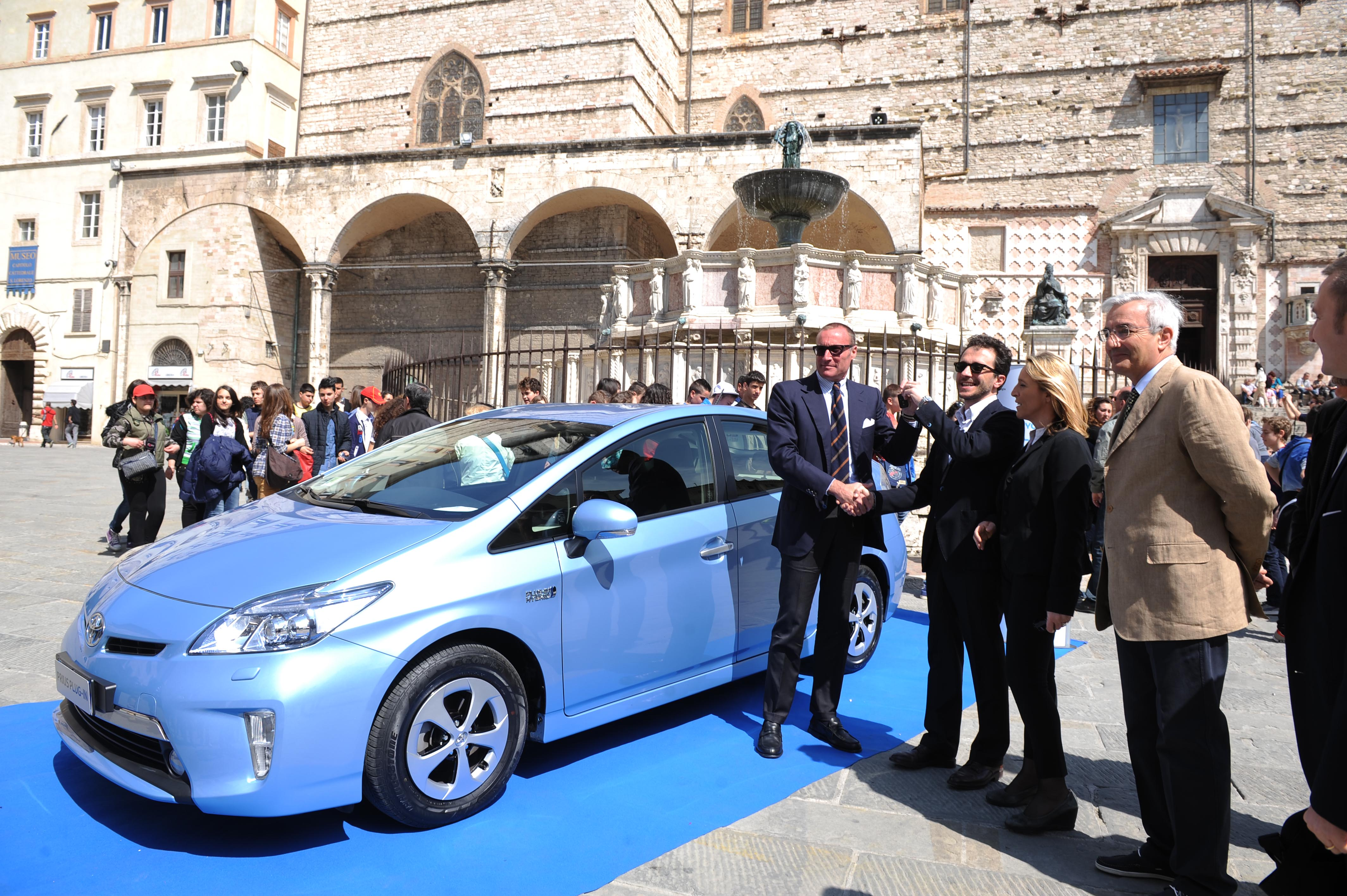 Toyota Prius Plug-in al Comune di Perugia